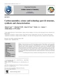 Carbon nanotubes, science and technology part (I) structure, synthesis and characterisation