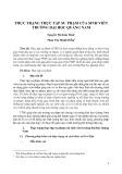 Thực trạng thực tập sư phạm của sinh viên trường Đại học Quảng Nam