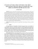 Ứng dụng kỹ thuật phân lớp trong việc phân tích, đánh giá kết quả khảo sát sinh viên cuối khóa tại trường Đại học Quảng Nam
