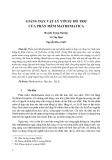 Giảng dạy vật lý với sự hỗ trợ của phần mềm mathematica