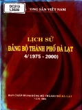 Đảng bộ thành phố Đà Lạt - Lịch sử (4/1975-2000)