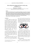 Effect of ring surface design on the thrust of a rotor using in multirotor UAV