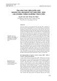 Tình hình thực hiện chiến lược nghiên cứu lâm nghiệp Việt Nam (2008-2020) - các khoảng trống và những thách thức