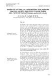 Nghiên cứu xác định các thông số công nghệ ngâm tẩm dung dịch polyetylenglycol (PEG) nhằm ổn định kích thước gỗ vối thuốc (Schima wallichii (DC.) Korth)
