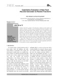 Quantitative evaluation of near fault records generated via wavelet transform