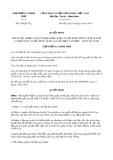 Quyết định số 430/QĐ-TTg ban hành ngày 19/4/2019