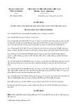 Quyết định số 470/QĐ-UBND tỉnh Ninh Bình