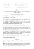 Quyết định số 27/2019/QĐ-UBND