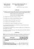 Quyết định số 06/2019/QĐ-UBND