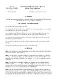 Quyết định số 220/QĐ-QLD