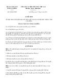 Quyết định số 835/QĐ-UBND tỉnh Lâm Đồng