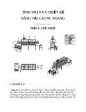 Tính toán và thiết kế băng tải cao su ngang