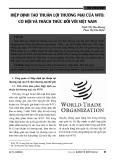 Hiệp định tạo thuận lợi thương mại của WTO: Cơ hội và thách thức đối với Việt Nam