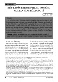 Điều khoản Hardship trong hợp đồng mua bán hàng hóa quốc tế