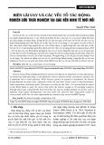 Biên lãi vay và các yếu tố tác động: Nghiên cứu thực nghiệm tại các nền kinh tế mới nổi