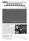 Các tiêu chí lựa chọn dự án PPP tại Cộng hòa Pháp và bài học cho Việt Nam