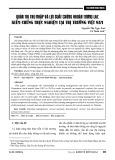 Quản trị thu nhập và lợi suất chứng khoán tương lai: Kiểm chứng thực nghiệm tại thị trường Việt Nam