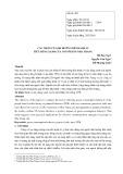 Các nhân tố ảnh hưởng đến hành vi tiêu dùng xanh của người dân Nha Trang