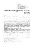 Giải quyết tranh chấp trực tuyến - khả năng áp dụng ở Việt Nam