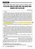 Mối liên hệ giữa bản chất công việc và sự hài lòng về công việc của nhân viên: Nghiên cứu tại Hà Nội