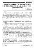Ứng dụng thí nghiệm kinh tế học trong đánh giá vai trò của nữ giới trong quá trình ra quyết định của hộ gia đình tại Thành phố Hà Nội