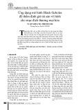 Ứng dụng mô hình Black-Scholes để thẩm định giá tài sản vô hình cho mục đích thương mại hóa