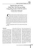 Ngành chăn nuôi trước thách thức Việt Nam gia nhập Cộng đồng Kinh tế ASEAN (AEC)