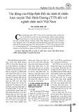 Tác động của Hiệp định Đối tác kinh tế chiến lược xuyên Thái Bình Dương (TTP) đối với ngành chăn nuôi Việt Nam