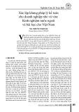 Xác lập khung pháp lý kế toán cho doanh nghiệp nhỏ và vừa: Kinh nghiệm nước ngoài và bài học cho Việt Nam