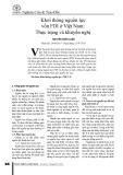 Khơi thông nguồn lực vốn FDI ở Việt Nam: Thực trạng và khuyến nghị