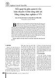 Mối quan hệ giữa quản trị vốn luân chuyển và khả năng sinh lợi: Bằng chứng thực nghiệm ở VN