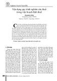 Vận dụng quy trình nghiên cứu thuế trong việc hoạch định thuế