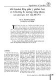Mối liên kết động giữa tỷ giá hối đoái và biến động thị trường chứng khoán các quốc gia mới nổi ASEAN