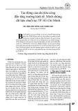 Tác động của chi tiêu công đến sự tăng trưởng kinh tế: Minh chứng dữ liệu chuỗi tại TP. Hồ Chí Minh