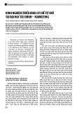 Kinh nghiệm triển khai cơ chế tự chủ tại Đại học Tài chính - Marketing