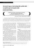 Các yếu tố nguy cơ ảnh hưởng đến sự tiến triển của glôcôm góc mở nguyên phát