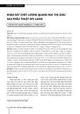 Khảo sát chất lượng quang học thị giác sau phẫu thuật Epi-Lasik