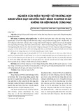 Nghiên cứu điều trị một số trường hợp bong võng mạc nguyên phát bằng phương pháp không ấn độn ngoài củng mạc