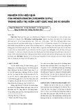 Nghiên cứu hiệu quả của moxifloxacin (vigamox 0,5%) trong điều trị viêm loét giác mạc do vi khuẩn