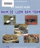 kỹ thuật nuôi nhím, dế, lươn, rắn, trăn: phần 2