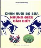 Ebook Chăn nuôi bò sữa - Những điều cần biết: Phần 1