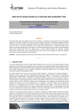 Analysis of online quizzes as a teaching and assessment tool