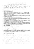 400 câu trắc nghiệm tiếng Anh ôn thi THPT Quốc gia
