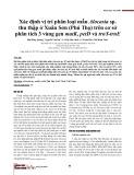 Xác định vị trí phân loại mẫu Alocasia sp thu thập ở Xuân Sơn (Phú Thọ) trên cơ sở phân tích 3 vùng gen matK, petD và trnY-trnE