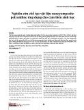 Nghiên cứu chế tạo vật liệu nanocomposite polyaniline ứng dụng cho cảm biến sinh học