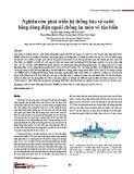 Nghiên cứu phát triển hệ thống bảo vệ catôt bằng dòng điện ngoài chống ăn mòn vỏ tàu biển