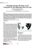 Giải pháp tích hợp viễn thám và GIS trong giám sát xâm nhập mặn sông Cửu Long