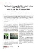 Nghiên cứu thực nghiệm hiệu quả gia cường dầm bê tông bị nứt bằng vật liệu tấm sợi các bon CFRP