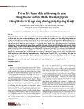 Tối ưu hóa thành phần môi trường lên men chủng Bacillus subtillis DB104 thu nhận peptide kháng khuẩn tái tổ hợp bằng phương pháp đáp ứng bề mặt