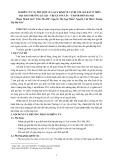 Nghiên cứu sự phù hợp của quy định về vị trí với giá đất ở trên địa bàn phường Lê Lợi – thị xã Sơn Tây – thành phố Hà Nội